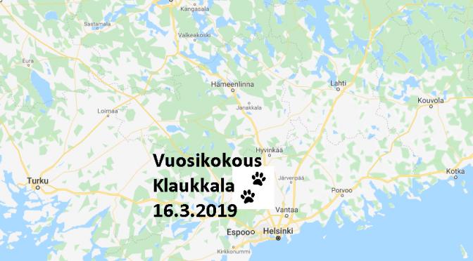 Vuosikokous ja luento 16.3.2019